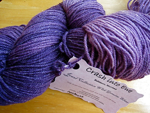 Amethyst jewel sock yarn