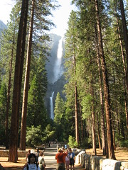 Walking around Yosemite Falls Photo