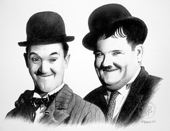 Laurel and Hardy 03 (pbradyart) Tags: portrait bw art pencil sketch artwork drawing graphite laurelandhardy pencildrawing blueribbonwinner golddragon platinumphoto impressedbeauty diamondclassphotographer flickrdiamond