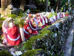 Jizo statues - Okunoin cemetary