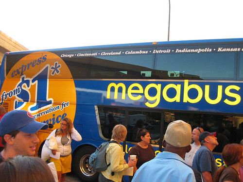 Boarding the Megabus
