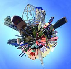 Horton Plaza Mini World (olasis) Tags: color skyline architecture mall shopping colorful downtown landmark fantasy commercial shoppingmall fancy shops hortonplaza redevelopment miniworld
