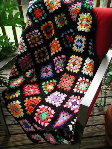Grandma's Granny Square Blanket