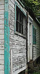 Cordova Lake: Derelict Cottage (bill barber) Tags: white house lake ontario canada detail texture abandoned home broken lines canon out grey aqua paint raw angle post turquoise gray grain cottage perspective down ps off line special falling upper elements worn processing receding balance peelingpaint decrepit tumbledown chipped derelict processed cordova ruraldecay balanced ramshackle dilapidated textured treated pp peeled burlap rundown compostion treatment brokendown cropping composed handyman photoshopelements sharpened flaked converging fixer bedraggled creaky kawartha xti exfoliated peterboroughhastings