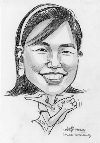 Caricature in pencil 06