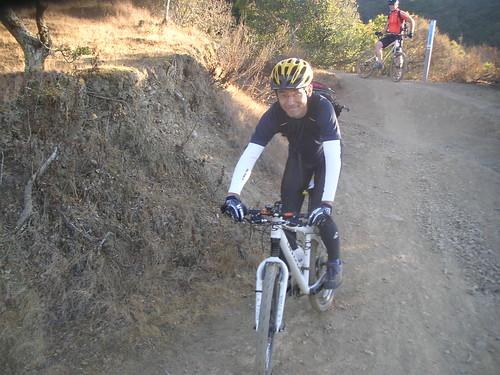 riding down