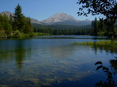 Mount Lassen from Manzanita Lake (Matt Granz Photography) Tags: california trees lake nature landscape volcano mountlassen manzanitalake lassenpeak nikoncoolpixp4 goldstaraward