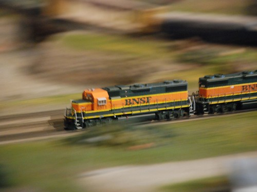 Miniature Train in motion