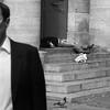 Dead or alive ? (Photojournaliste vincentmeyer.fr) Tags: street bw white black paris france bird church dead pull stair noir jean mort pigeon homeless over nb alive rue église blanc sdf oiseau escalier marche sans clochard laine decapitated vivant abris 75008 décapité