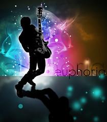 Euphoria (christarampi) Tags: abstract clouds photoshop typography cool cg coldplay rockstar guitar smoke euphoria colourartaward