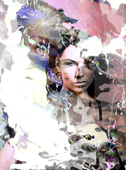 Sensation 2 (Atmospheres) (crescentsi) Tags: portrait woman abstract colour art girl female digital eyes name digitalart perspective surreal number identity human soul stare hallucination duality conceptual opposition collaborativeart illusory identikit postpainterly postpainting colourartaward theadminsgallery