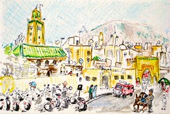 Postcard Fes, Morocco