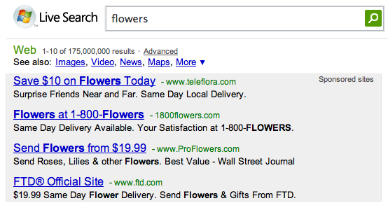 Live Search Adds Ads