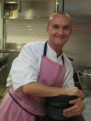 Chef at La Mere Champlain, Cancale, France