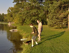 By Mott Lake (genesee_metcalfs) Tags: family dog pets lake beagle water kids fun shore steppingstonefalls