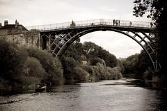 Ironbridge circa ' 06-3 (Robert Brindley) Tags: bridge england bw shropshire engineering ironbridge telford oldphoto engineeringasart
