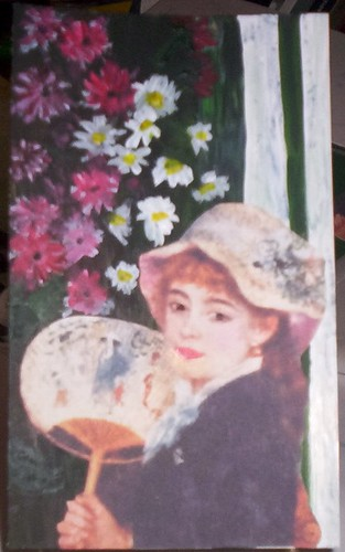 The Girl with a Fan by Auguste Renoir-SkinnyWeek #9 Challenge!