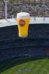 Carlton Draught Hot Air Balloon Over The MCG (the mightie pie) Tags: beer football australia melbourne victoria hotairballoons flights ballooning afl melbournecricketground grandfinalday themcg carltondraughthotairballoon