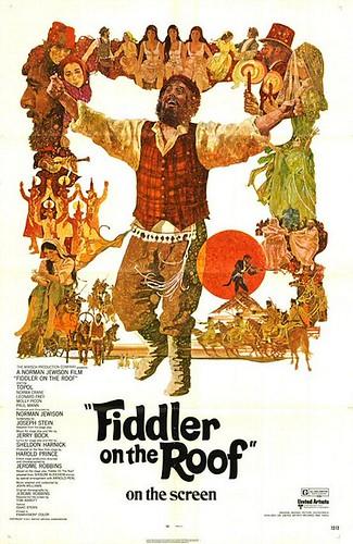 Póster Fiddler on the roof - El violinista en el tejado Norman Jewison Topol