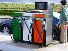 Irish Fuel (Janek Kloss) Tags: ireland irish car station island coast flag garage an eire gas aisle mayo petrol achill fuel cuan