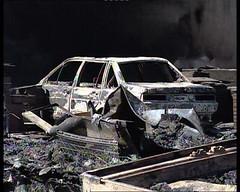 Un cotxe cremat
