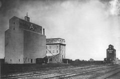 Flour mill and elevator, Portage La Prairie, MB, 1884
