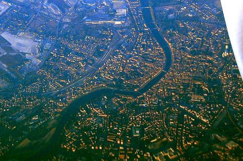 Flying over Pisa