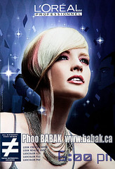 L'Oreal (BABAK photography) Tags: blue sun toronto color colour hair advertising photography photographer post cut 85mm professional national posters trophy babak awards past printed fashionshoot loreal tearsheets contessa wwwbabakca photographybabak babakca hairshoot babaked babakphotographer avantgardehaircolor