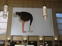 Billboard of an Ostrich with it's Head in the ...