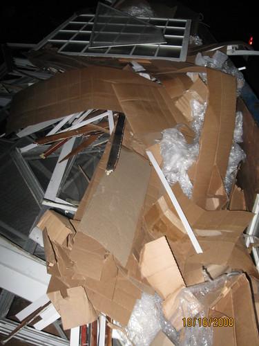 Window company dumpster