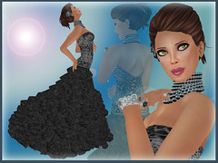 Black Leopard (Sasy Scarborough ) Tags: fleur fashion hair shoes truth skins formal secondlife gowns essentia enkythings houseofnyla scarboroughflair sasyscarborugh