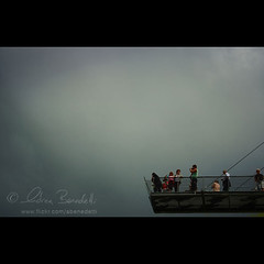 riders on the storm () Tags: bridge people italy mist andy clouds europe andrea dramatic andrew merano benedetti