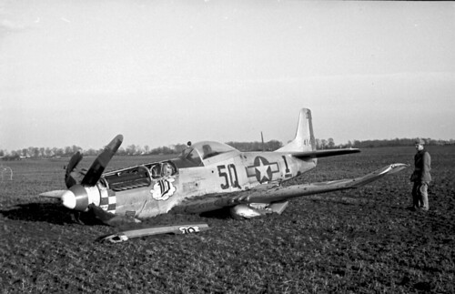 Warbird picture - P 51 Crash - Warbird crash