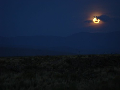 Moon rise over the Bolivian altiplano...
