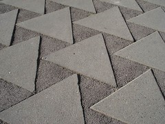 Triangles (mag3737) Tags: triangles concrete pattern stones sidewalk asphalt