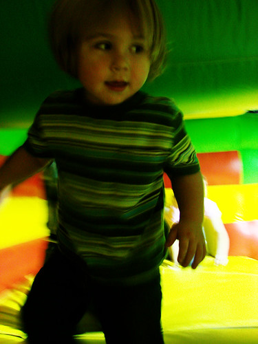in the bounce house