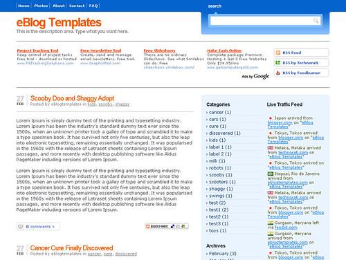 Blogging pro template