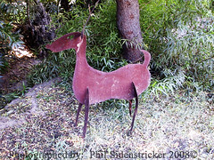Deer Art (phil_sidenstricker) Tags: tree art grass steel deer bushes donotcopy valleyofthesunphoenixmetro upcoming:event=981998 southmountainfarmphoenixazusa