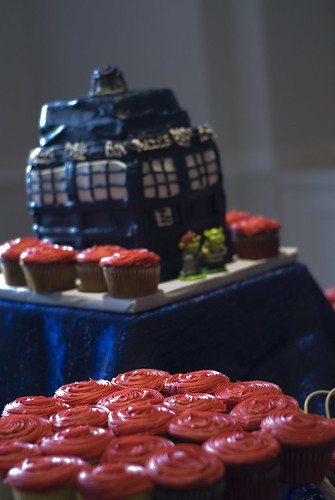 A Tardis cake from a Doctor Who themed wedding Fun fact most OBB posts