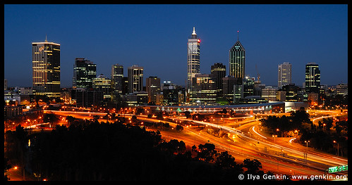 Perth downtown, View from Kings Park, Perth, WA, Australia