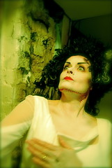 The Bride of Frankenstein (Tomitheos) Tags: red toronto ontario canada halloween facepainting mirror nikon october flickr artist stitch blurvision makeup dressup daily frankenstein stitches lookingglass facepaint now fearful today 2008 nowpublic whiteface prepwork thebride greenhue makeupeffects makeupfx torontoevent disturbia tomitheos curlyblackhair geishaface maikokyoto silentspeak bloggedhalloween fashioncaresfashionscares hauntedcreepyplaces emotionspersonified lewishamlondonengland elsalanchesterwasborntodayoctober28in1902 specialtheatretheater bloodopenwound cutbleeding howtofacepaint