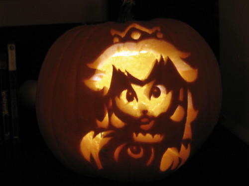 My Princess Peach Pumpkin by Iridescent Raine.