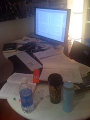 my writing process (alist) Tags: writing desk workspace