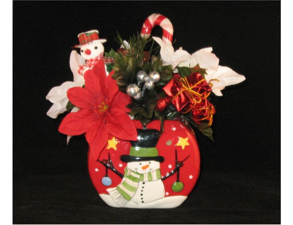 Whimsy Little Snowman Floral Arrangement