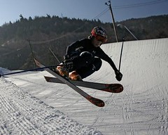 - Skier trick at Blue