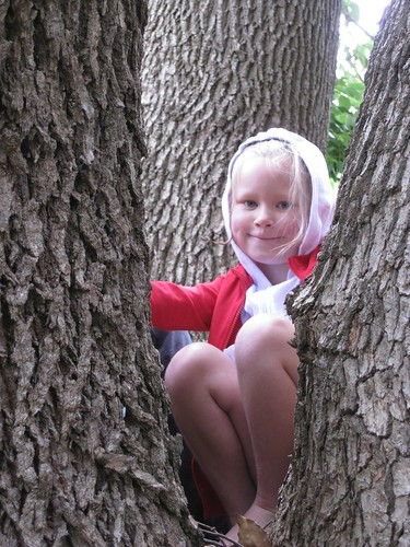 Christy in tree