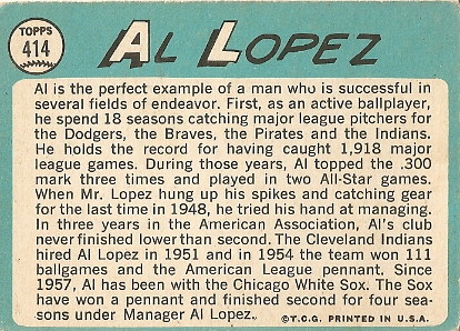 Al Lopez (back) by you.