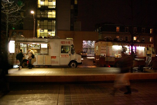 Street vendors on St. George Street, U of T