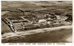 Middleton Tower Holiday Camp - Aerial View (trainsandstuff) Tags: vintage aerialview aerial retro archival morecambe pontins holidaycamp middletontower middletontowerholidaycamp fredpontin