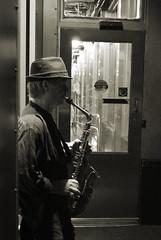 (#Hctor.Snchez) Tags: travel music usa newyork skyline night nikon nightshot manhattan jazz blues empirestatebuilding saxo nikond60 blackwhitephotos ltytr1